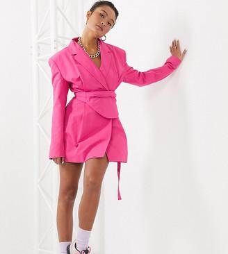 Collusion blazer dress with detachable bumbag