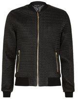 Dolce & Gabbana Textured Zip Bomber Jacket