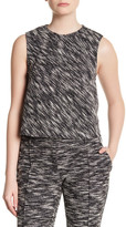 ABS by Allen Schwartz Knit Jacquard Sleeveless Blouse