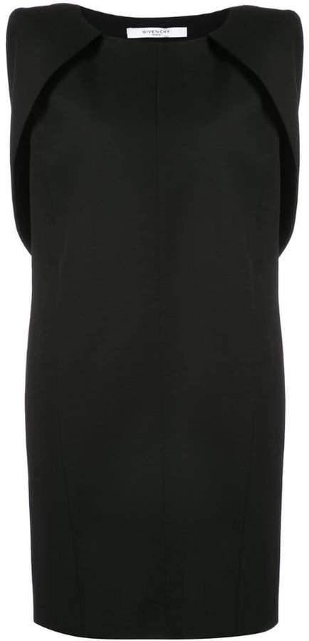 Givenchy cape sleeved shift dress
