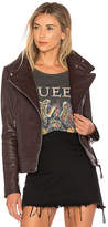 Mackage Lisa Leather Jacket in Wine. - size L (also in M,S)
