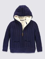 Marks and Spencer Pure cotton Lined Knitted Cardigan (1-7 Years)
