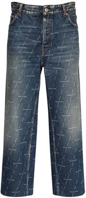 Balenciaga Organic Cotton Denim Cropped Pants
