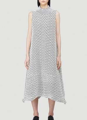 Issey Miyake Printed Flared Dress