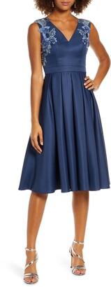 Chi Chi London Kyla Applique Detail Fit & Flare Party Dress