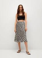 Thumbnail for your product : MANGO Geometric print skirt