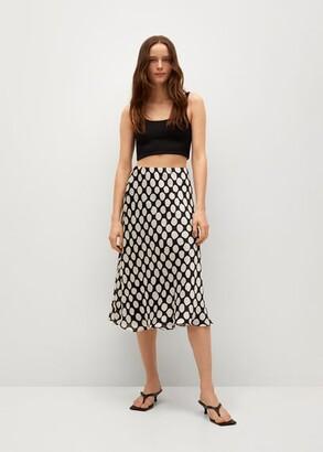 MANGO Geometric print skirt