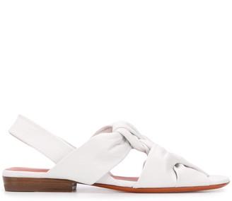 Santoni Braided Open-Toe Sandals