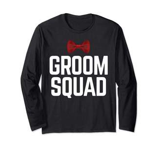 Groom Squad With Red Bow Tie Long Sleeve T-Shirt