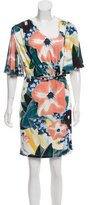Catherine Malandrino Floral Printed Flutter Sleeve Dress w/ Tags