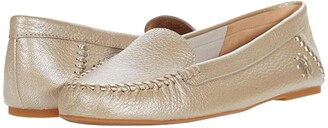 Jack Rogers Millie Moccasin Tumbled Leather (Platinum) Women's Shoes