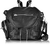 Alexander Wang Black Washed Leather Marti Backpack w/Silvertone Metal