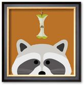 "Art.com Peek-a-Boo Raccoon"" 14.25"" x 14.5"" Framed Art Print By Yuko Lau"