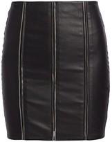 RtA Amelie Zipper Leather Mini Skirt