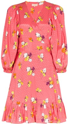 By Ti Mo Floral-Print Wrap Dress