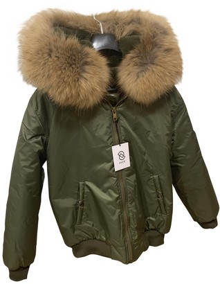 Ducie Green Leather Jacket for Women