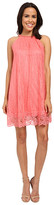Adrianna Papell Babydoll Embellished Neckline Dress