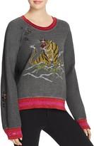 Pam & Gela Embroidered Tiger Sweatshirt