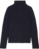 Sea Wool Turtleneck Sweater - Navy