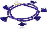 """Shashi Laila Crystal Wrap Bracelet, 13.75"""""""