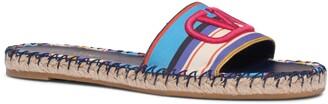 Valentino Garavani Pop Baiadera Espadrille Slide Sandal