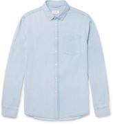 Saturdays NYC Crosby Slim-fit Button-down Collar Washed-denim Shirt - Blue