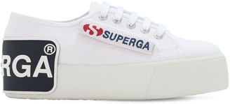 Superga 40mm Patches Canvas Platform Sneakers