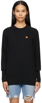 Kenzo Black Oversize Tiger Crest Sweater