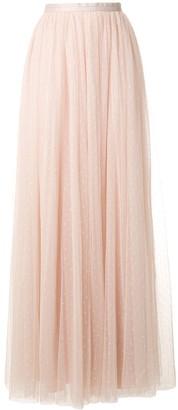 Needle & Thread high waisted tulle maxi skirt