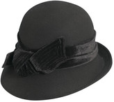 Scala Women's LF170 Cloche Bucket Hat with Velvet Bow