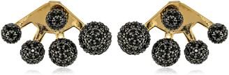 Noir Multi-Sphere Black Earring Jackets