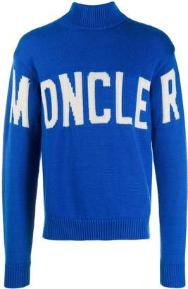 Moncler logo roll-neck sweater