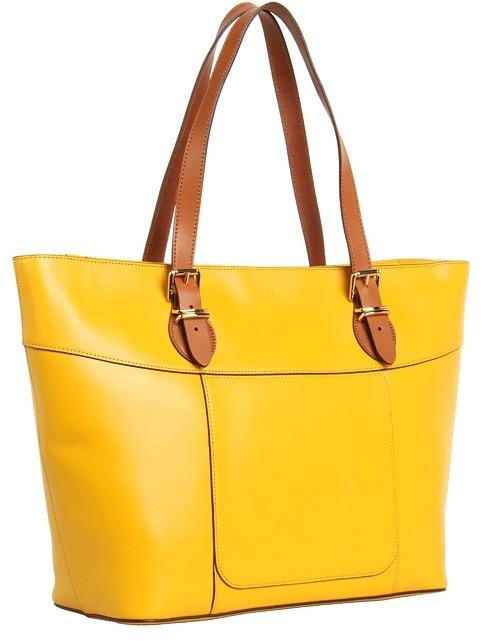 Lauren Ralph Lauren Bexley Heath Classic Tote (Buttercup/Lauren Tan) - Bags and Luggage