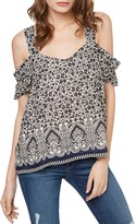 Sanctuary Annie Floral Print Cold-Shoulder Top