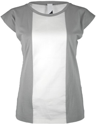 Format BASE Grey & Ecru Single Plain T-Shirt - S - White/Grey