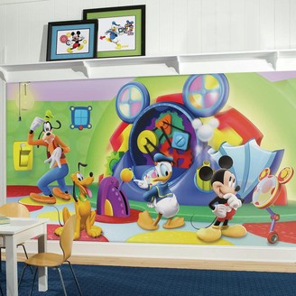 York Wall Coverings Disney's Mickey Mouse & Friends Clubhouse Capers Removable Wallpaper Mural