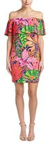 Trina Turk Trina Women's Merci Racket Club Floral Matte Jersey Off Shoulder Dress
