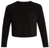 The Upside Nikko logo-print cotton cropped sweatshirt