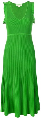 MICHAEL Michael Kors Ribbed Midi Dress