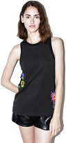 3.1 Phillip Lim Floral Embroidered Tank Top