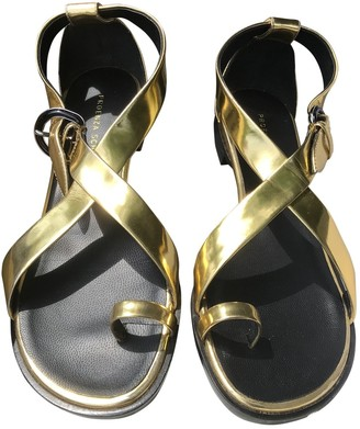 Proenza Schouler Gold Patent leather Sandals
