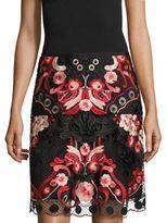 KOBI HALPERIN Bristal Lace Overlay Skirt