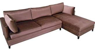 My Chic Nest Todd Right Hand Facing Sectional My Chic Nest Body Fabric: Bella Black, Leg Color: Acrylic