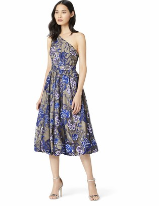 Amazon Brand - TRUTH & FABLE Women's Floral One-shoulder Dress