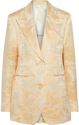Acne Studios Joelle Linen And Silk-blend Jacquard Blazer