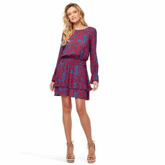 Jessica Simpson Women's Ara Smock Waist Long Sleeve Dress