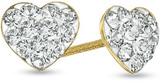 Zales Child's Crystal Heart Earrings in 14K Gold
