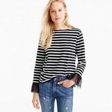 J.Crew Tulle cuffed stripe T-shirt