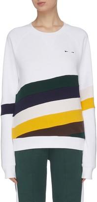 The Upside 'Sunrise Bondi' colourblock panel stripe performance sweatshirt