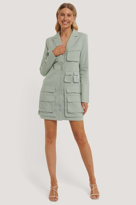 NA-KD Pocket Blazer Dress